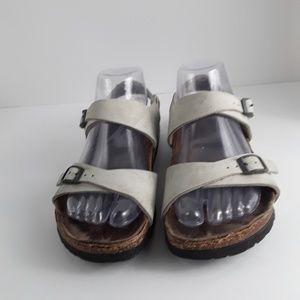 Off white Birkenstock sandals
